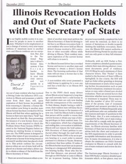 Article: Illinois Revocation Holds and Out-of-State Packets